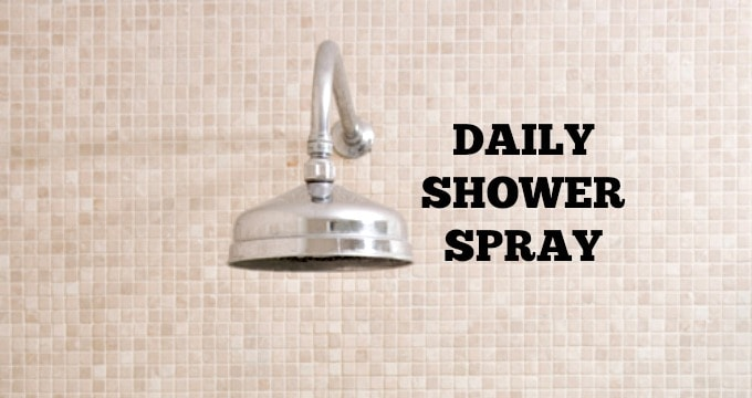 Homemade Daily Shower Spray Recipe