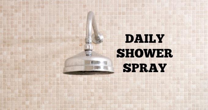 Homemade Daily Shower Spray Recipe