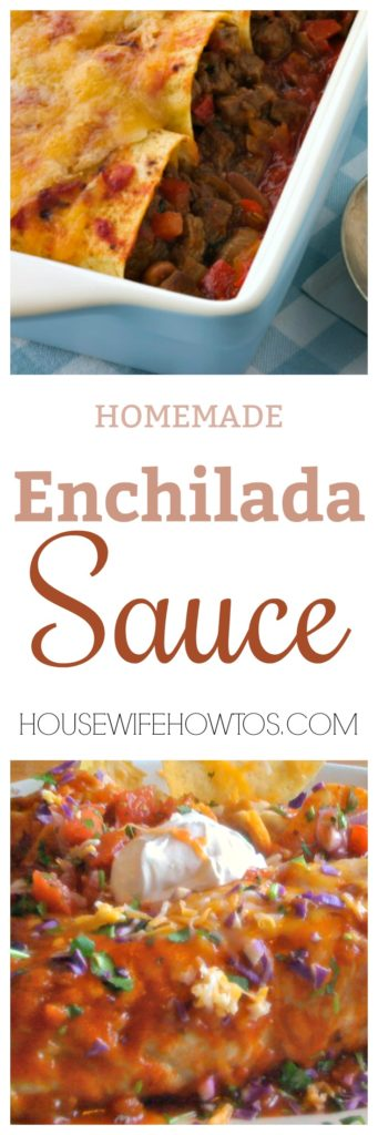 Homemade Enchilada Sauce - So easy to make and so many uses for it. #enchiladas #mexicanfood #sauce #enchiladasauce #homemade