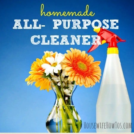 Homemade all purpose cleaner recipe mix from HousewifeHowTos.com