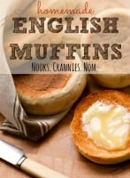 How to make homemade English muffins recipe from HousewifeHowTos.com