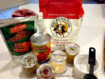 Ingredients for homemade enchilada sauce recipe
