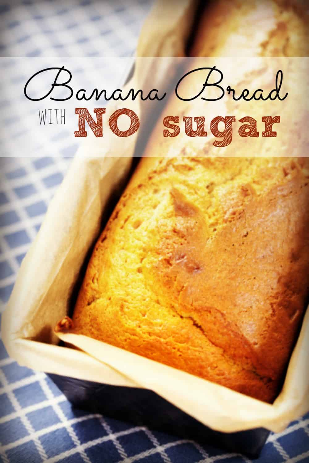 Trying to eliminate refined sugar from your family's meals? You'll love this moist, easy banana bread recipe. It freezes beautifully, too. #nosugar #bananabread
