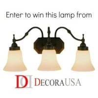DecoraUSA Lamp Giveaway via HousewifeHowTos.com