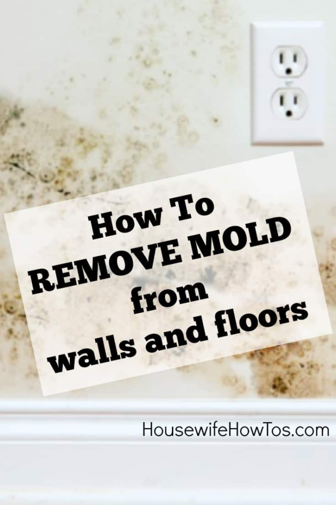 How To Remove Mold From Walls and Floors - Mold in the home can lead to respiratory and skin infections, and worse. Follow these steps to remove it from walls and floors then keep it away for good. #mold #moldremoval #cleaning #deepcleaning