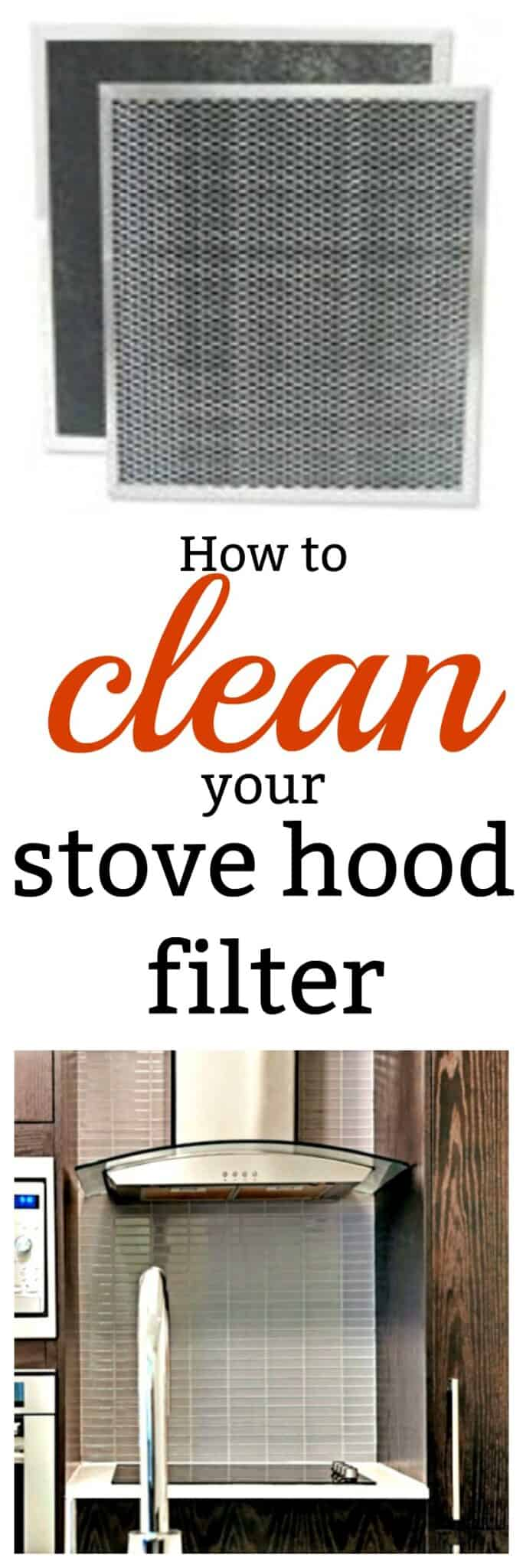 How to Clean Stove Hood Filters - Easy no-scrub method & more tips