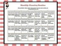 Monthly Cleaning Routine from HousewifeHowTos.com