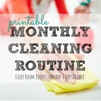 Printable Monthly Cleaning Routine