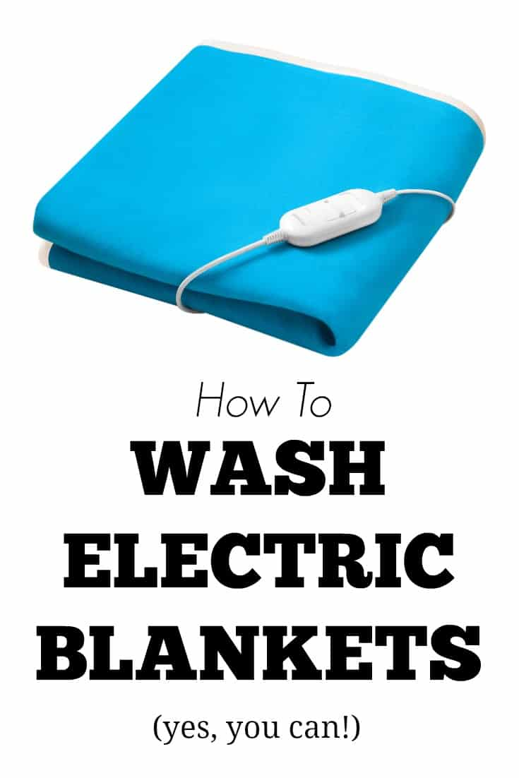 How To Wash Electric Blankets - I got mine clean and it still works great!