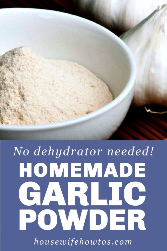 Homemade Garlic Powder Recipe
