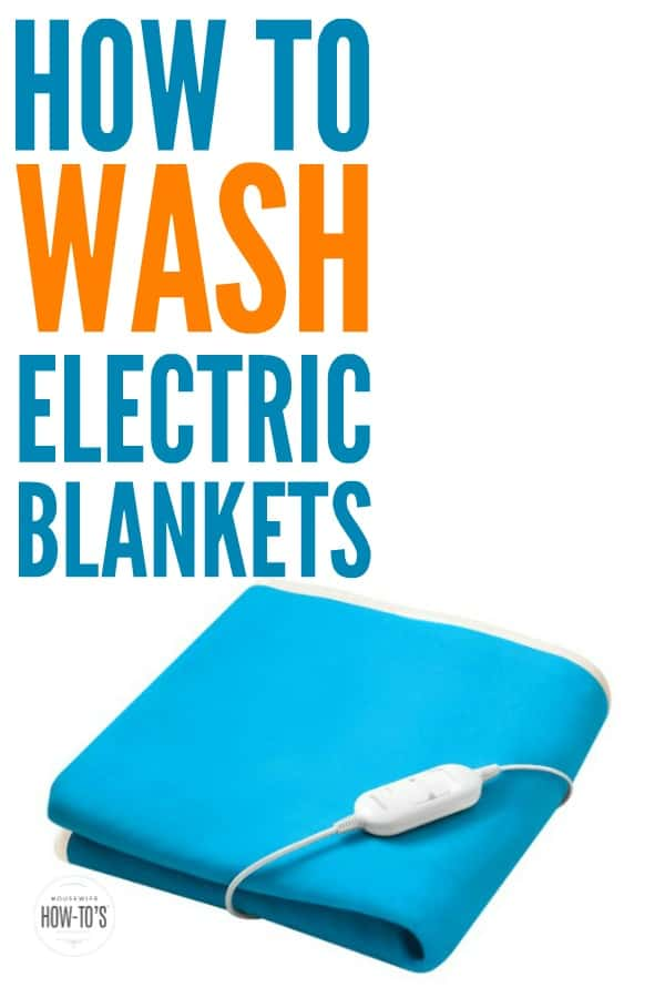 How to Wash Electric Blankets - I can't believe how many electric blankets I ruined before. This gets them clean and they still work great, too! #laundry #laundryhacks #electricblankets #cleaning #deepcleaning