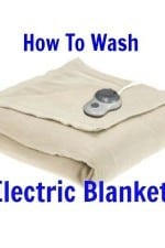How to wash electric blanket from HousewifeHowTos.com