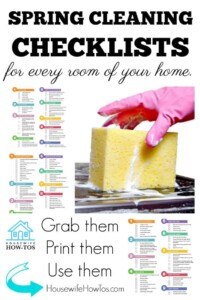 Spring Cleaning Checklists for EVERY Room of your Home - These efficient yet thorough checklists will get your home sparkling clean! #springcleaning #deepcleaning #cleaning #cleaningchecklists #homemaking