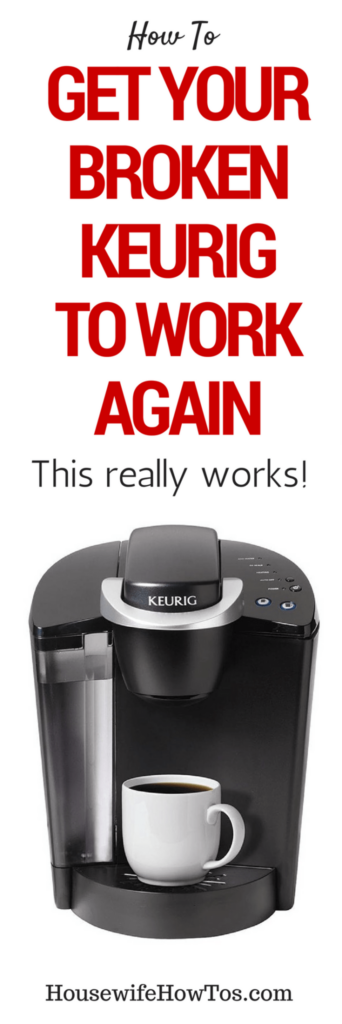 How To Get Your Broken Keurig To Work Again - Hooray, my Keurig works like new! #keurig #cleaning #coffeemaker #repair #fix