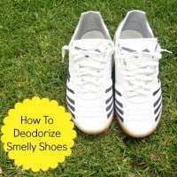how to deodorize smelly shoes from HousewifeHowTos.com