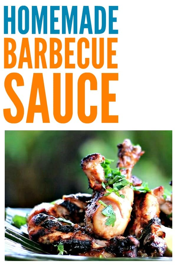 Homemade Barbecue Sauce - Spicy and sweet thick sauce that is delicious on chicken and ribs. #barbecuesauce #barbecue #grillingrecipe #bbq #bbqsauce #steak #ribs #chicken #cookout