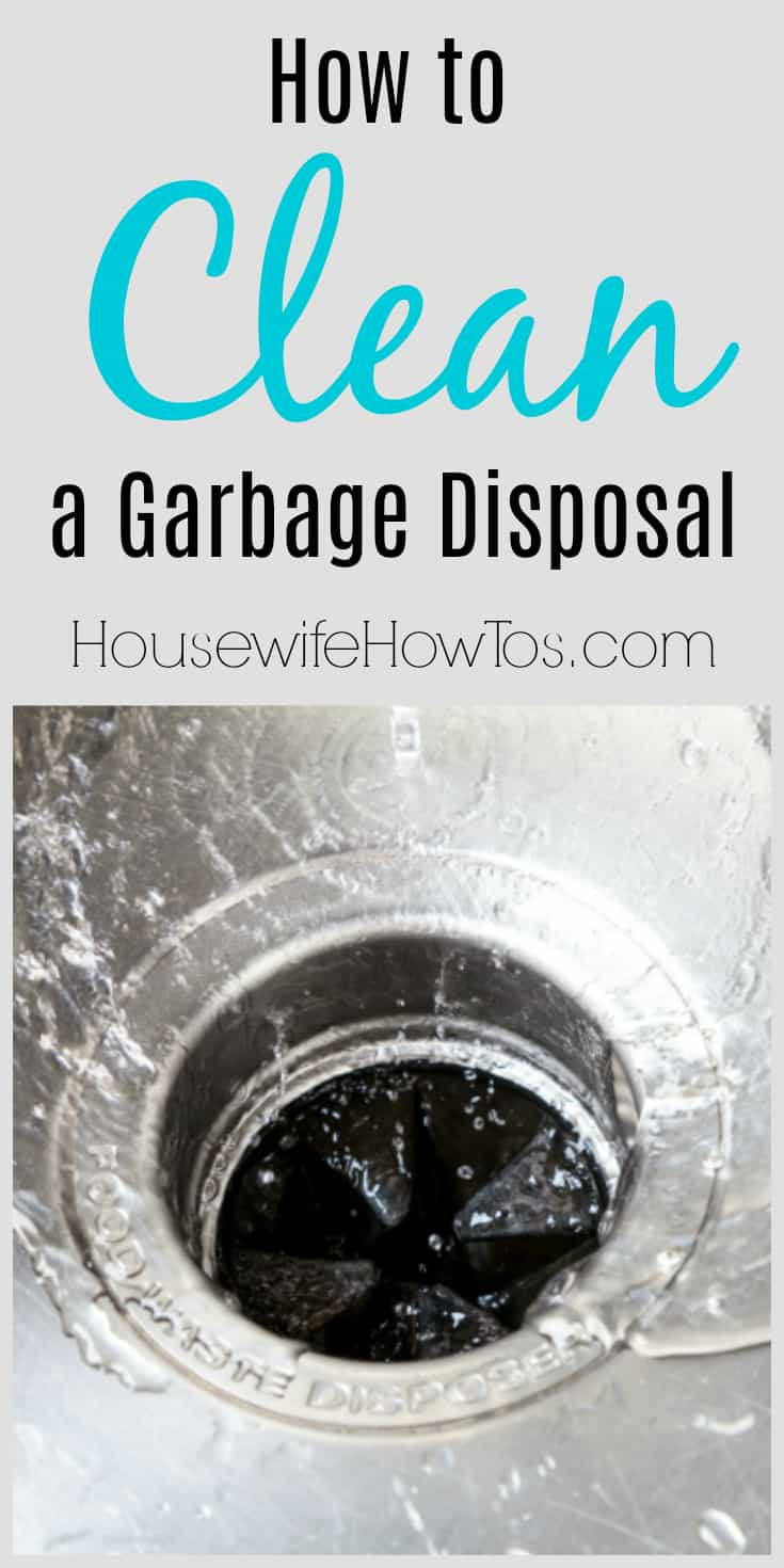 How to Clean a Garbage Disposal plus tips to keep it from stinking #cleaning #kitchencleaning #garbagedisposal #odors #smells #homemaintenance
