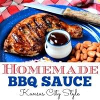 How to make homemade BBQ sauce recipe from HousewifeHowTos.com