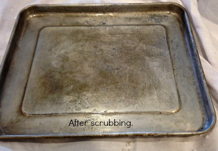 Get Baked On Grease Off Of Aluminum Baking Sheets With