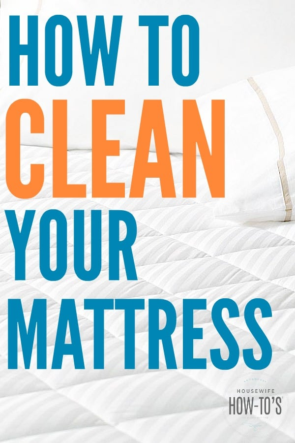 How to Clean a Mattress - Kill dust mites, get rid of stains, and eliminate odors. My mattress looks brand new! #mattress #mattresscleaning #stains #stainremoval #odors #allergies #dustmites #deepcleaning
