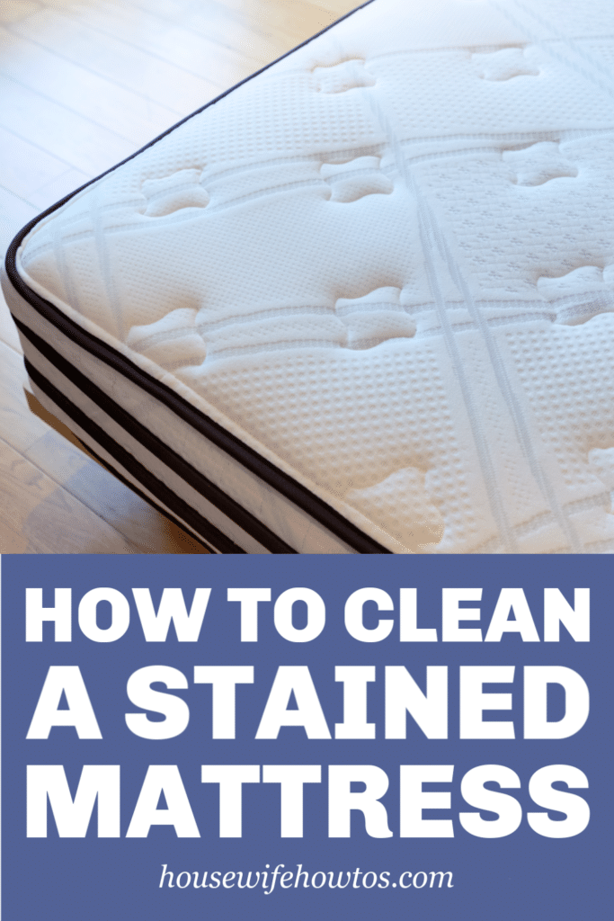 How to Clean a Stained Mattress