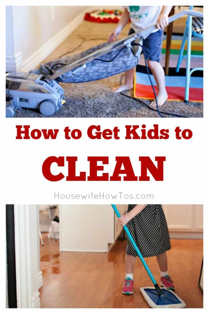 How to Get Kids to Clean | 7 tips to get your children to do their part. #kidschores #cleaning #cleaningadvice #kidscleaning #chores