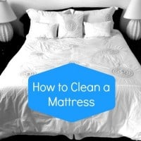 How to clean a mattress from HousewifeHowTos.com