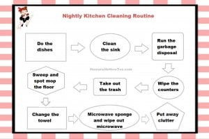 Nightly Kitchen Cleaning Routine