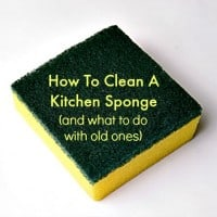 How to clean a kitchen sponge from HousewifeHowTos.com