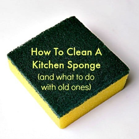 How To Clean a Kitchen Sponge (and what to do with old ones)