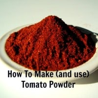How to make tomato powder and use it from HousewifeHowTos.com