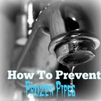 How to prevent frozen pipes from HousewifeHowTos.com