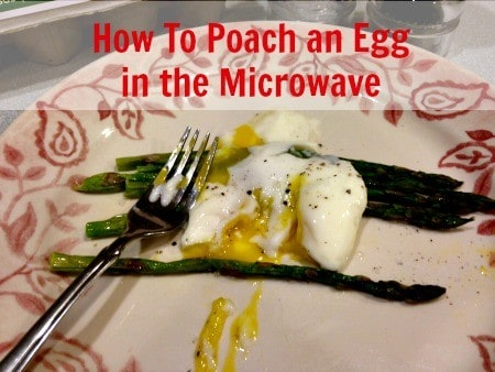 how to cook an egg via microwave