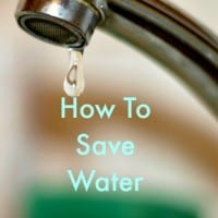 How to save water from HousewifeHowTos.com