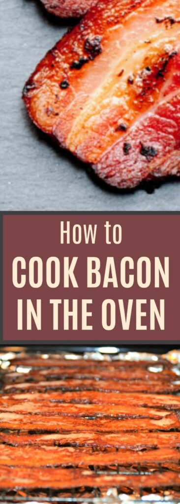 How to Cook Bacon in the Oven - No more grease burns and the bacon comes out perfect! I make a pound at a time for meal prep. #cookingtricks #bacon #cooking #howtocook #mealprep