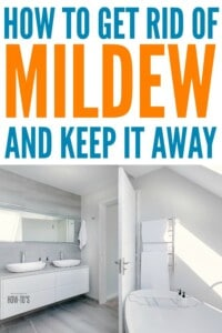 How to Get Rid of Mildew - Get rid of mildew on any surface of your home and keep it away for good #mildew #mold #cleaning #housewifehowtos #bathroomcleaning #cleaningtips