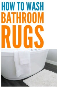 How to Wash Bathroom Rugs - This got the stains out without ruining them. #laundry #laundryhack #bathroom #cleaning #bathroomrugs