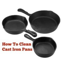 How to clean cast iron pans from HousewifeHowTos.com