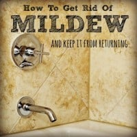 How to get rid of mildew from HousewifeHowTos.com