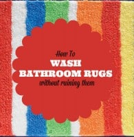 How to wash bathroom rugs from HousewifeHowTos.com