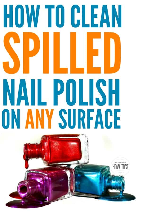 How to Clean Spilled Nail Polish - My cat knocked over my polish and I thought my carpet was ruined forever. This worked to clean up the polish AND got rid of the stain! #cleaning #cleaningadvice #cleaningtip #nailpolish #spills #homemaking