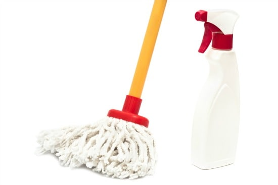 How to clean wood floors - Use a spray bottle not a bucket
