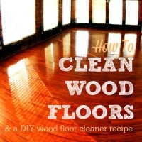 How to clean wood floors from HousewifeHowTos.com