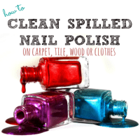 how to clean spilled nail polish from HousewifeHowTos.com