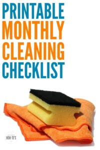 Monthly Cleaning Checklist - Great reminder for weekly cleaning as well as those little household chores that are so easy to forget