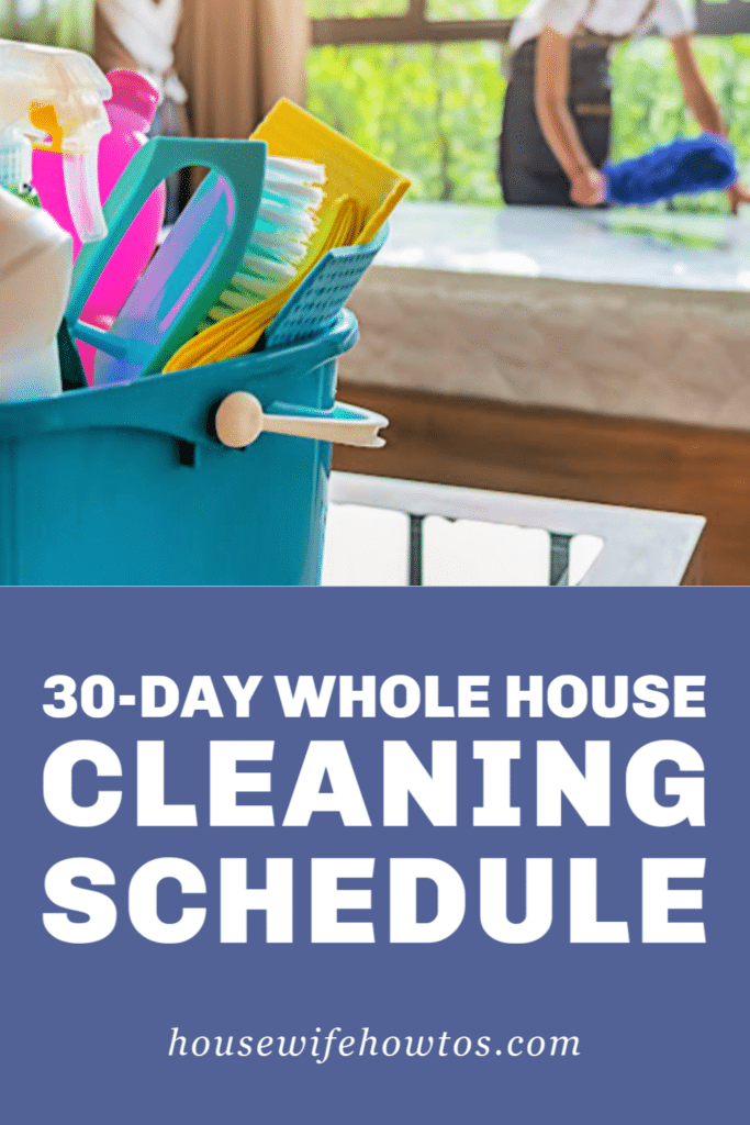 30-Day Whole House Cleaning Schedule with Laundry Routine