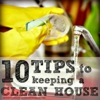 10 tips to keeping a clean house from HousewifeHowTos.com