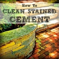 How to clean stained cement from HousewifeHowTos.com