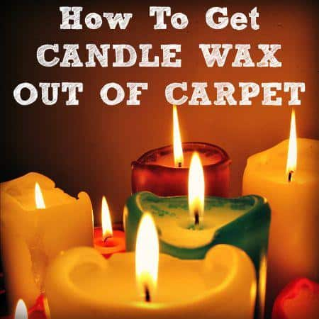 How to get candle wax out of carpet from HousewifeHowTos.com