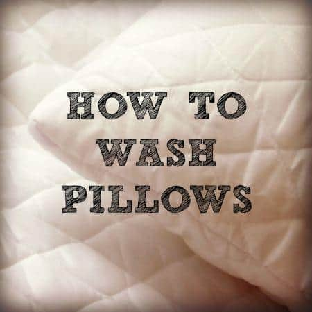How to wash pillows from HousewifeHowTos.com